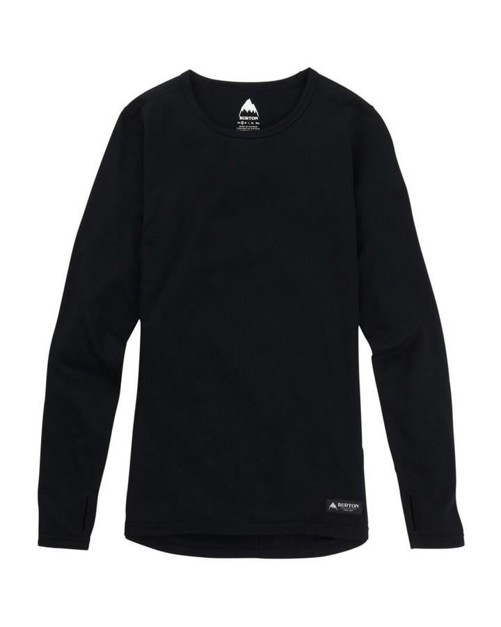 Burton Women's Midweight Merino Base Layer Crew - True Black - 2020 Hoodies/Pullovers - Women - Trojan Wake Ski Snow