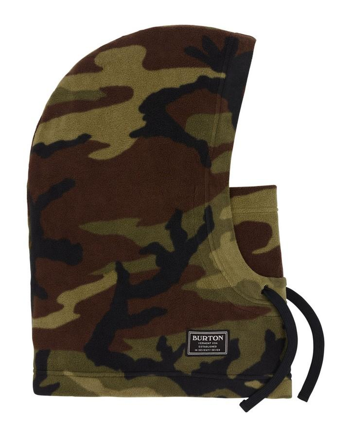 Burton Men's Burke Hood - Worn Camo - 2020 Face Masks/Hoods - Mens - Trojan Wake Ski Snow