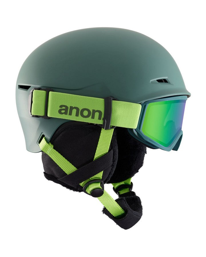 Anon Define Helmet  - Green - 2020 Snow Helmets - Youth - Trojan Wake Ski Snow