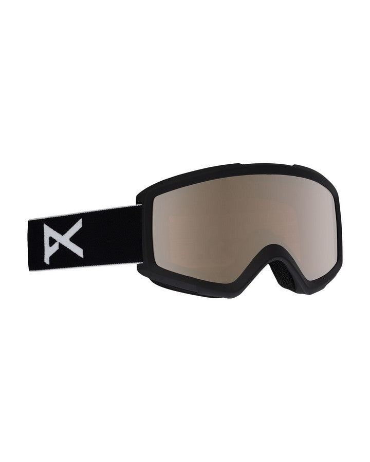 Anon Helix 2.0 Sonar Goggle + Spare Lens - Black/Silver Amber - 2020 Snow Goggles - Youth - Trojan Wake Ski Snow