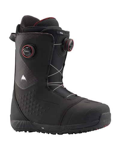 Burton Ion BOA® Snowboard Boot - Black/red - 2020 Snowboard Boots - Men - Trojan Wake Ski Snow