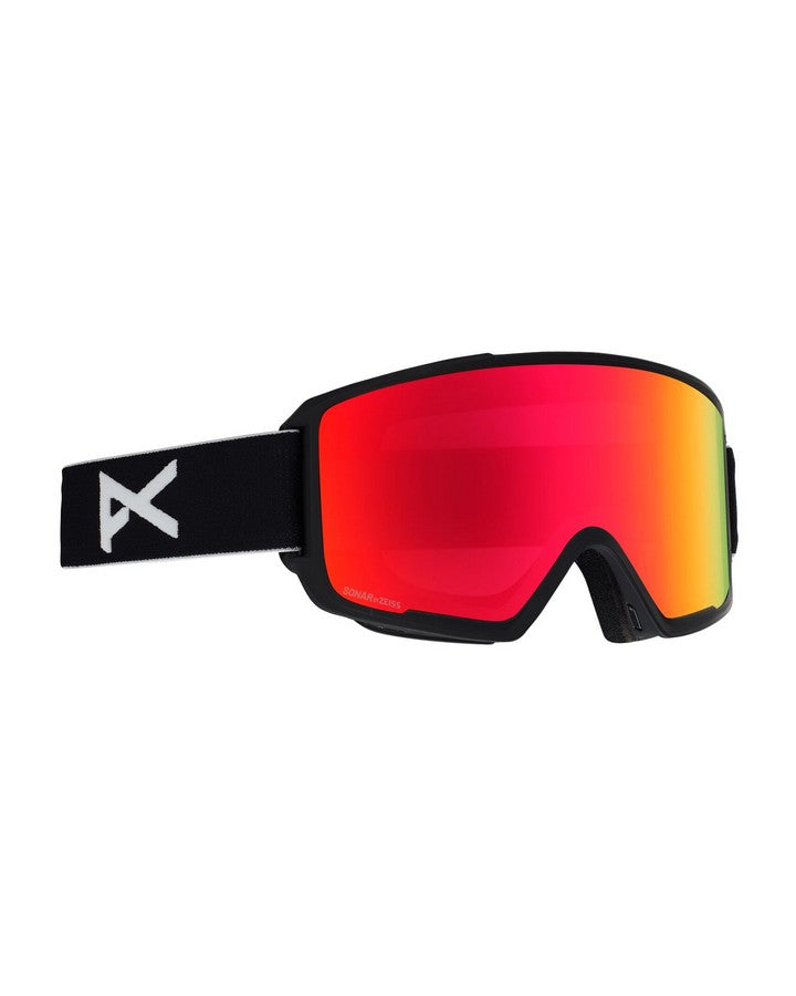Anon M3 Goggle + Spare Lens + MFI® Facemask - Sonar Red - 2020 Snow Goggles - Mens - Trojan Wake Ski Snow