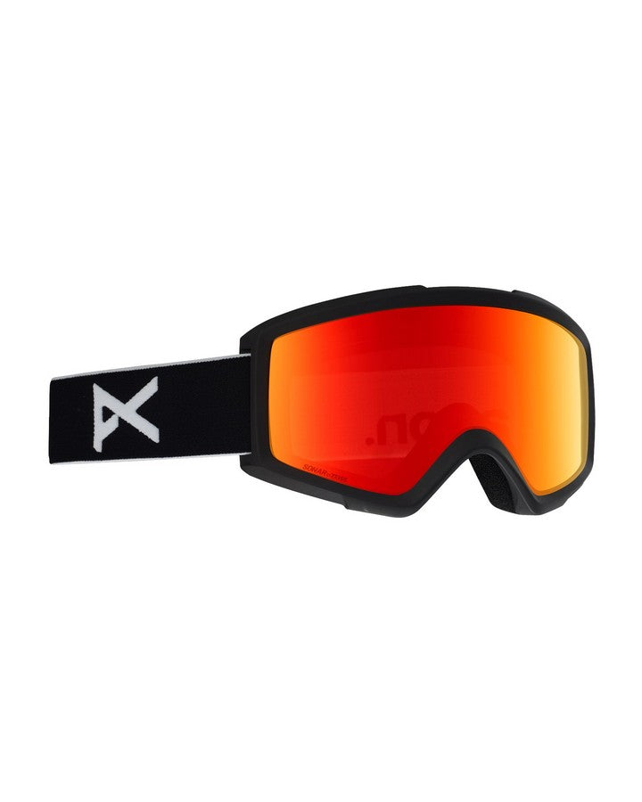 Anon M2 Goggle + Spare Lens + MFI® Facemask - Sonar Red - 2020 Snow Goggles - Mens - Trojan Wake Ski Snow