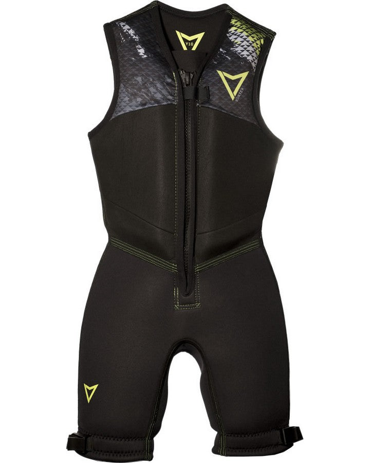2020 VORTEX JUNIOR BAREFOOT SUIT - Black / Lime-Barefoot Suits - Youth-VORTEX-6-Trojan Wake Ski Snow