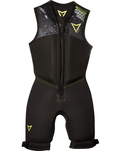 VORTEX JUNIOR BAREFOOT SUIT - Black / Lime - 2020 Barefoot Suits - Youth - Trojan Wake Ski Snow