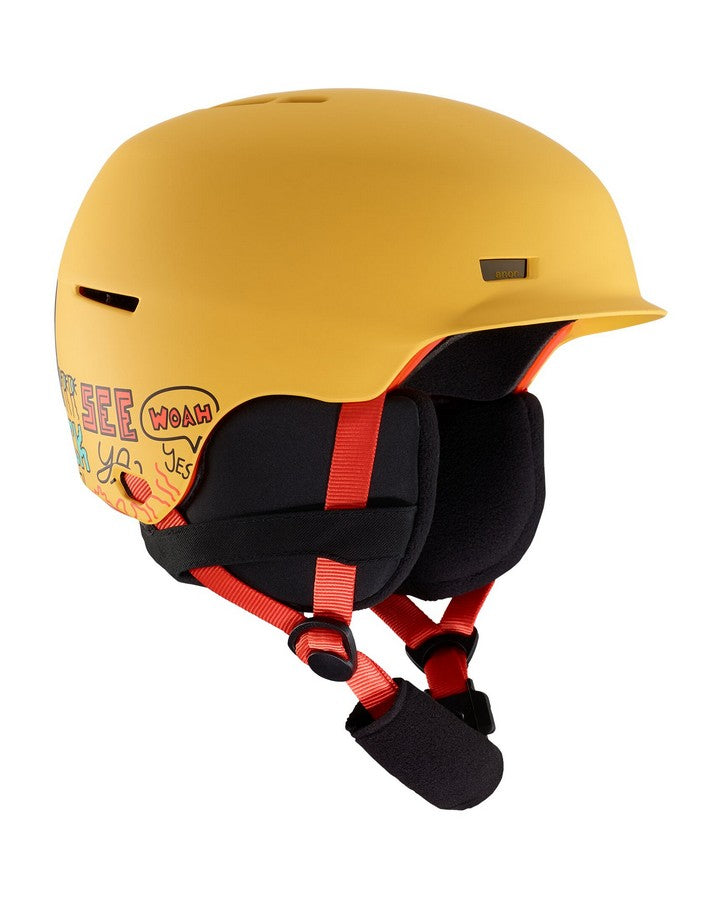 Anon Flash Helmet  - Pizza Yellow - 2020 Snow Helmets - Youth - Trojan Wake Ski Snow