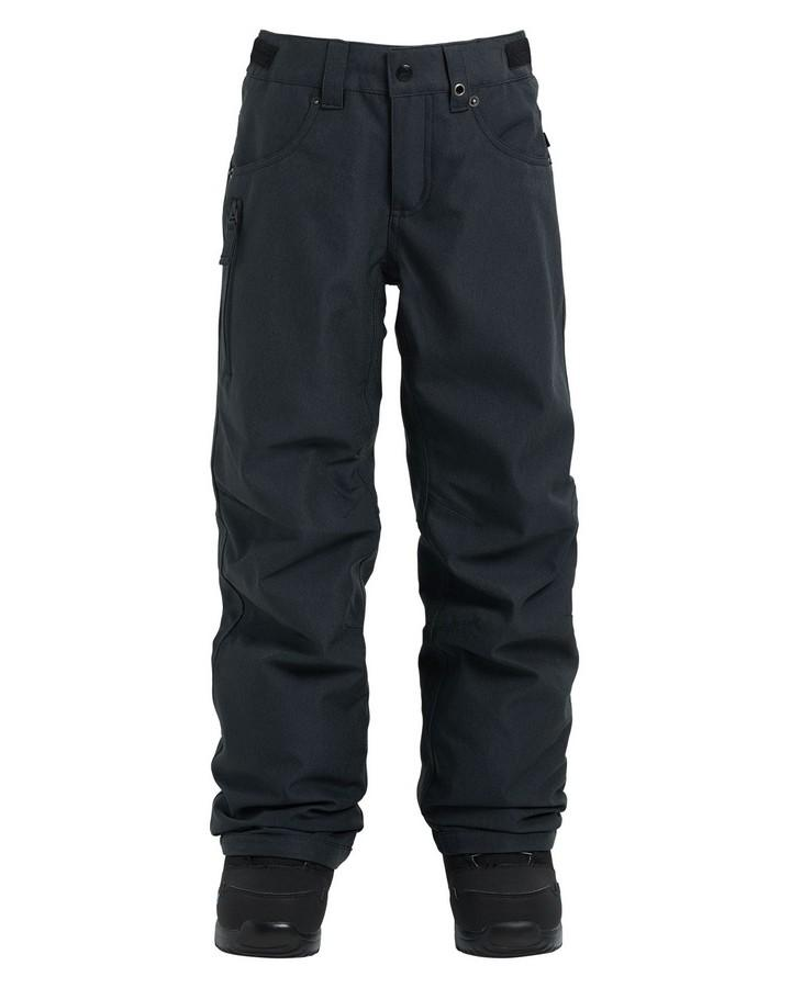 2020 Burton Boys' Barnstorm Pants - Black Denim Snow Pants - Youth - Trojan Wake Ski Snow