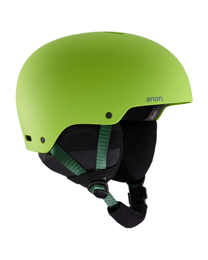 2020 Kids' Anon Rime 3 Helmet - Green-Snow Helmets - Youth-Anon-Green-M-Trojan Wake Ski Snow