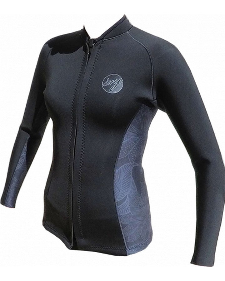 2020 IVY ETERNITY NEO TOP - Black-WETSUIT TOPS - LADIES-IVY-4-Trojan Wake Ski Snow