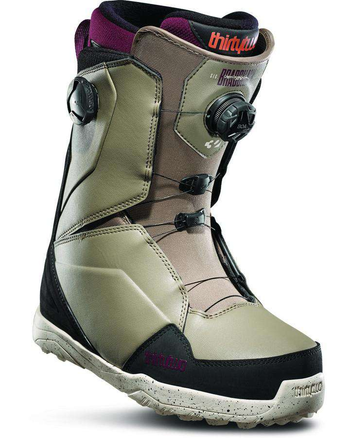ThirtyTwo Lashed Double Boa Bradshaw - Olive/black - 2020 Snowboard Boots - Men - Trojan Wake Ski Snow