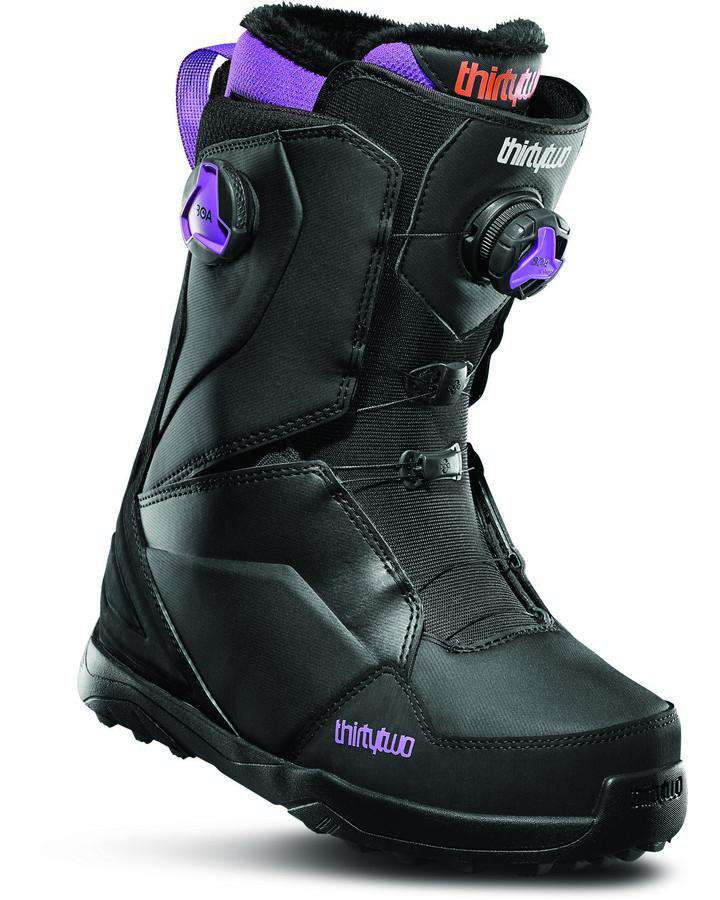 2020 Thirtytwo Lashed Double Boa Women's - Black/purple-Snowboard Boots - Women-Thirtytwo-5-Trojan Wake Ski Snow