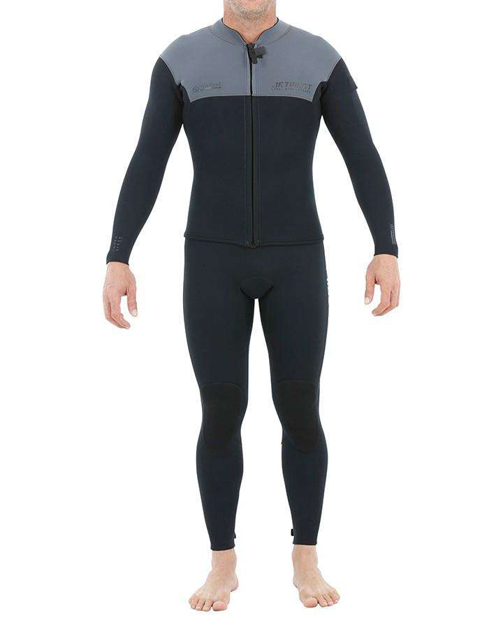 2020 JETPILOT VENTURE JOHN AND JACKET - CHARCOAL-STEAMERS - MEN-JETPILOT-S-Charcoal-Trojan Wake Ski Snow