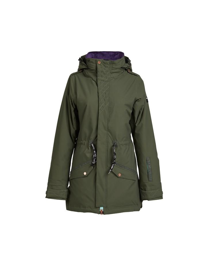 Nikita Womens Poplar Stretch Jacket - Fatigue - 2020 Snow Jackets - Womens - Trojan Wake Ski Snow
