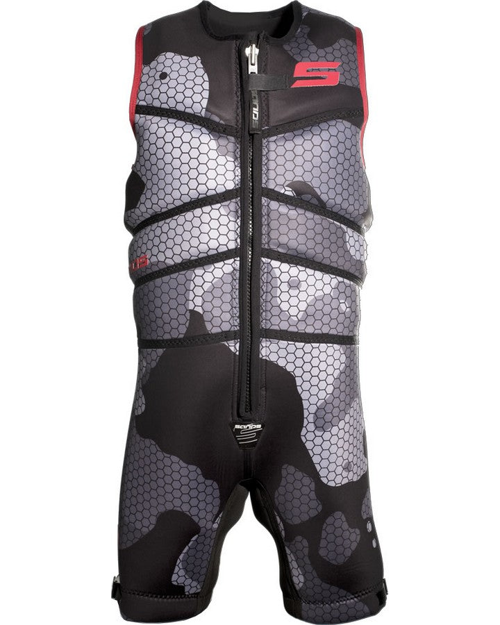 SANDS TITAN BAREFOOT SUIT - Black / Red - 2020 Barefoot Suits - Mens - Trojan Wake Ski Snow