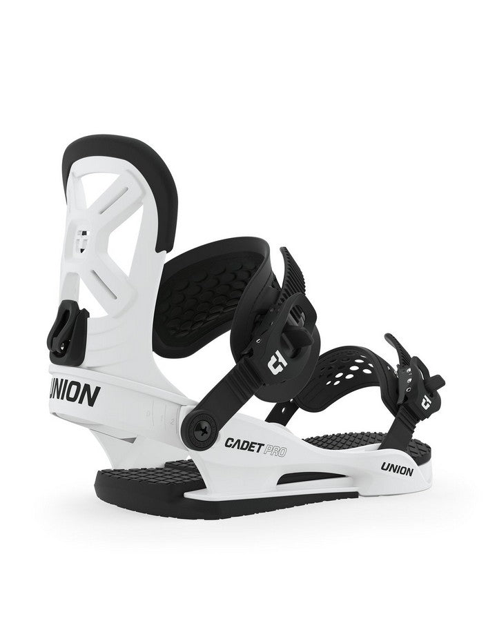 Union Cadet PRO Snowboard Binding - White - 2020 Snowboard Bindings - Kids - Trojan Wake Ski Snow