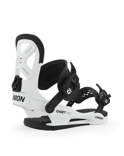 Union Cadet PRO Snowboard Binding - White - 2020 Snow Bindings - Youth - Trojan Wake Ski Snow