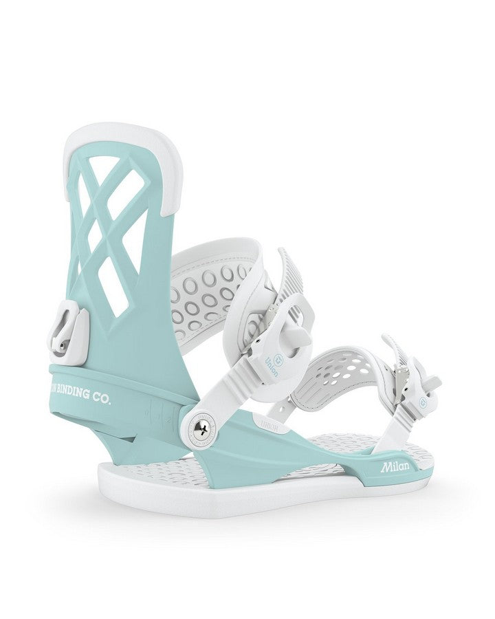 Union Milan Womens Snowboard Binding - Pastel Blue - 2020 Snowboard Bindings - Women - Trojan Wake Ski Snow