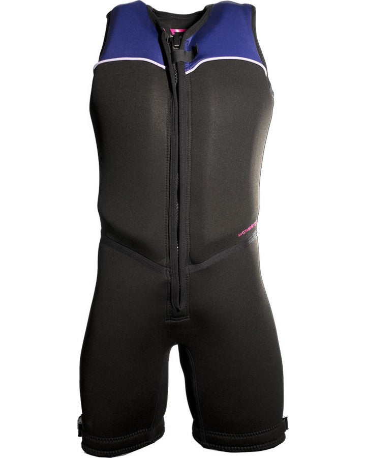 WAVELENGTH WOMENS BUOYANCY SUIT - Black / Purple - 2020 Bouyancy Suits - Womens - Trojan Wake Ski Snow