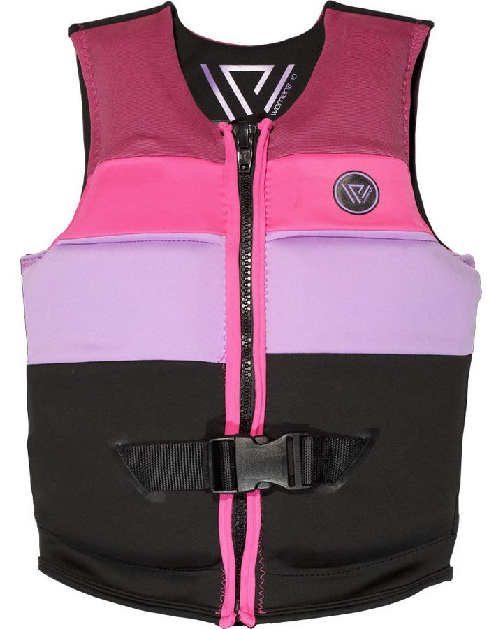 WAVELENGTH WOMENS VOGUE VEST - Pink / Black - 2020 LADIES LIFE JACKET - Trojan Wake Ski Snow
