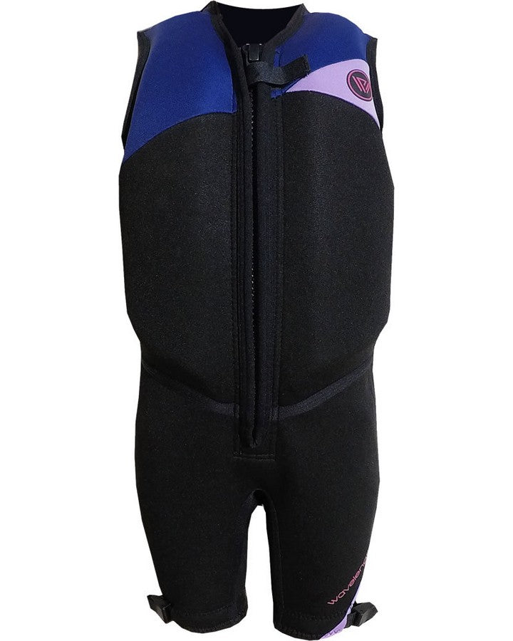 WAVELENGTH JUNIOR BUOYANCY SUIT - Black / Purple - 2020 Bouyancy Suits - Kids - Trojan Wake Ski Snow