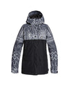 DC Womens Cruiser Snow Jacket - Black Mud Cloth Print - 2020 Snow Jackets - Womens - Trojan Wake Ski Snow