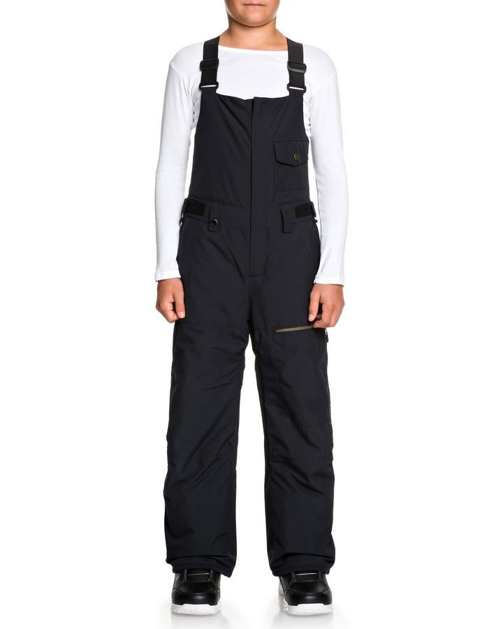 Quiksilver Boys 8-16 Utility 10k Snow Bib Pant - Black - 2020 Snow Pants - Youth - Trojan Wake Ski Snow