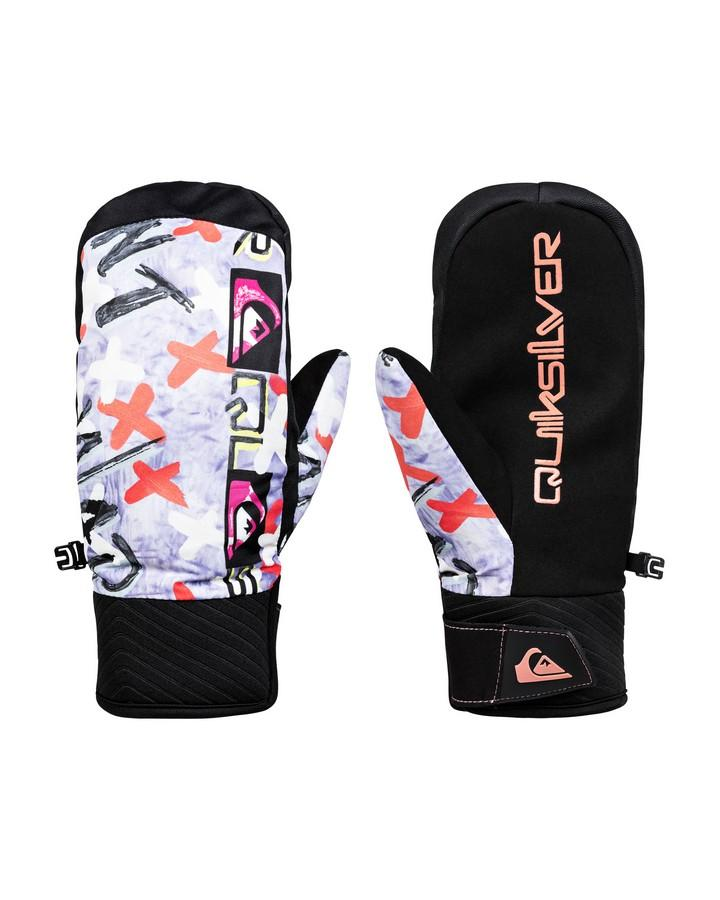 Quiksilver Mens Method Anniversary Snow Mitten - Black Warpaint - 2020 Snow Gloves - Women - Trojan Wake Ski Snow
