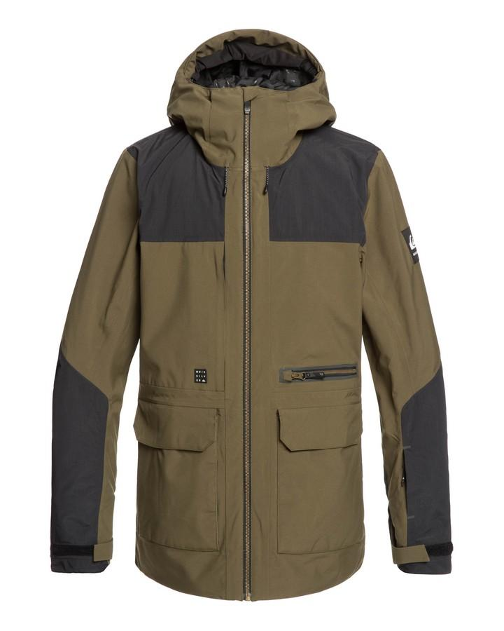 Quiksilver Mens Arrow Wood 15k Snow Jacket - Grape Leaf - 2020 Snow Jackets - Mens - Trojan Wake Ski Snow