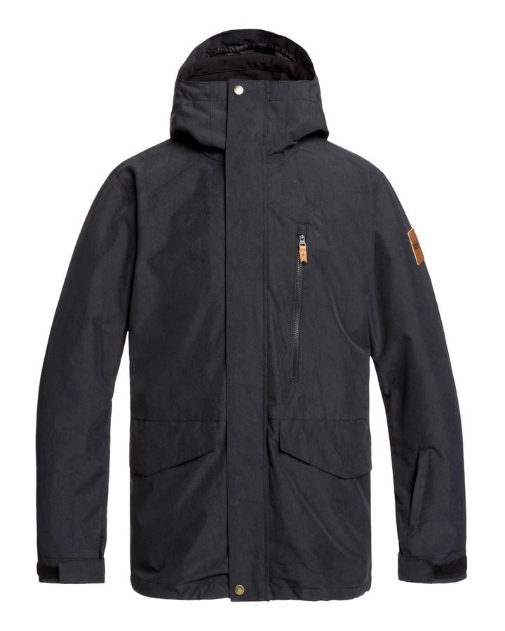 2020 Quiksilver Mens Mission 3-in-1 Snow Jacket - Black-Snow Jackets - Mens-Quiksilver-Trojan Wake Ski Snow