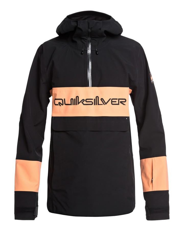 Quiksilver Mens Anniversary 15K Snow Jacket - Black - 2020 Snow Jackets - Mens - Trojan Wake Ski Snow