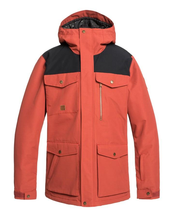 2020 Quiksilver Mens Raft Snow Jacket - Barn Red-Snow Jackets - Mens-Quiksilver-Trojan Wake Ski Snow