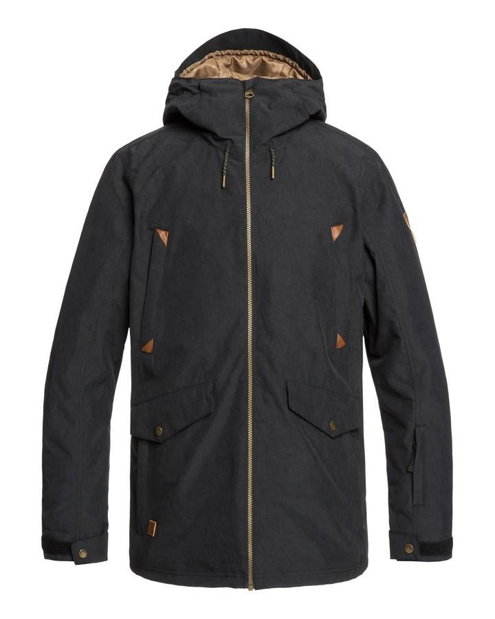 Quiksilver Mens Drift 10k Snow Jacket - Black - 2020 Snow Jackets - Mens - Trojan Wake Ski Snow