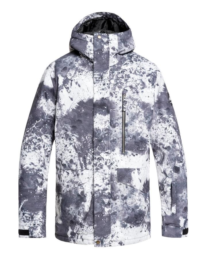 Quiksilver Mens Mission 10k Snow Jacket - Castle Rock Splash - 2020 Snow Jackets - Mens - Trojan Wake Ski Snow