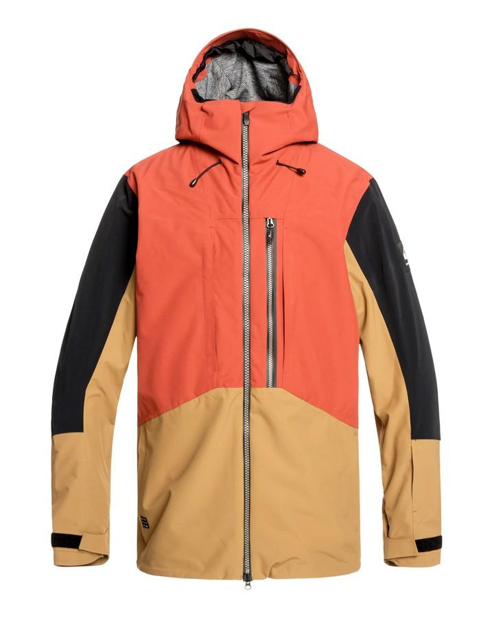 Quiksilver Mens Travis Rice Stretch 20k Snow Jacket - Barn Red - 2020 Snow Jackets - Mens - Trojan Wake Ski Snow