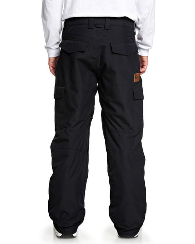 Quiksilver Mens Porter 10k Snow Pant - Black - 2020 Snow Pants - Mens - Trojan Wake Ski Snow