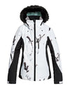 Roxy Womens Jet Ski - Snow Jacket - True Black White Birds - 2020 Snow Jackets - Womens - Trojan Wake Ski Snow