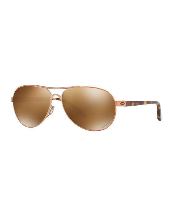 Oakley Feedback - Rose Gold w Prizm Tungsten Polarized SUNGLASSES - Trojan Wake Ski Snow