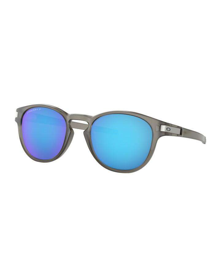 Oakley Latch - Matte Grey Ink w Prizm Sapphire Polarized SUNGLASSES - Trojan Wake Ski Snow
