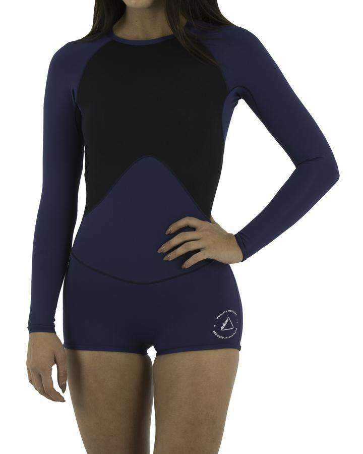 RIPCURL SPRING SUIT - WOMENS 6 2019 FOLLOW LADIES LYCRA L/S SPRINGY NAVY