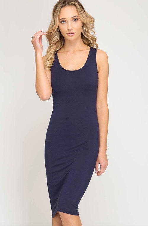 That Simple Dress- Navy