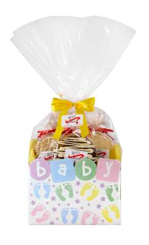Baby Prints Cookie Basket (Small - 6 Cookies)