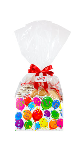 Balloons Celebration Cookie Basket (Large - 12 Cookies)