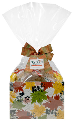Fall Leaves Cookie Basket (Large - 12 Cookies)