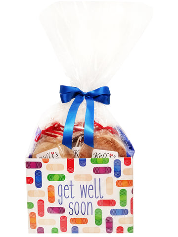 Get Well Bandaids Cookie Basket (Large - 12 Cookies)