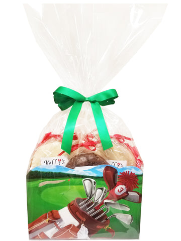 Golf Bag Cookie Basket (Large - 12 Cookies)