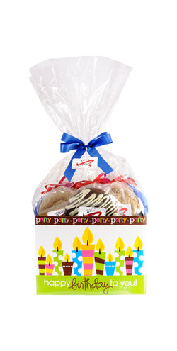 Happy Birthday Cookie Basket (Small - 6 Cookies)