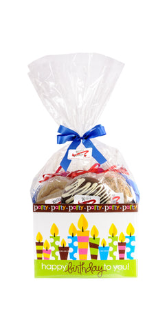 Happy Birthday Cookie Basket (Large - 12 Cookies)
