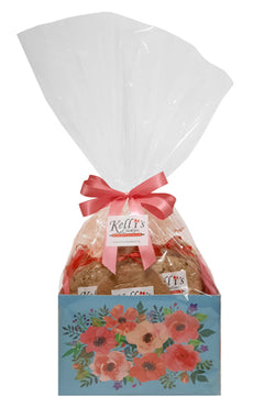 Mother's Day Floral Cookie Basket (Large - 12 Cookies)