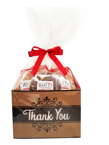 Thank You Cookie Basket (Large - 12 Cookies)