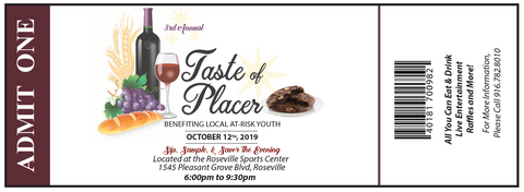 Taste of Placer 2019 eTicket